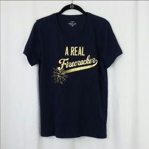 J Crew firecracker t shirt